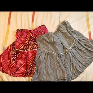 (2) Banana Republic Boho Peasant Mini skirts
